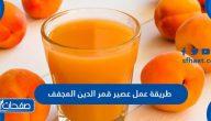 طريقة عمل عصير قمر الدين المجفف في الخلاط وعلى الطريقة السورية