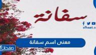 معنى اسم سفانة في المعجم والإسلام وعلم النفس