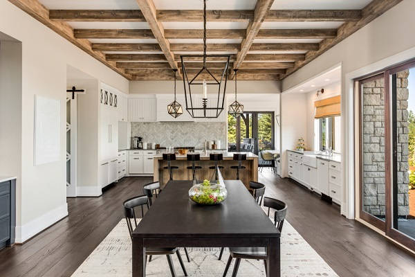 ديكور سقف مطبخ خشب بسيط
