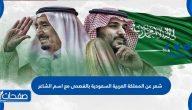 شعر عن المملكة العربية السعودية بالفصحى مع اسم الشاعر